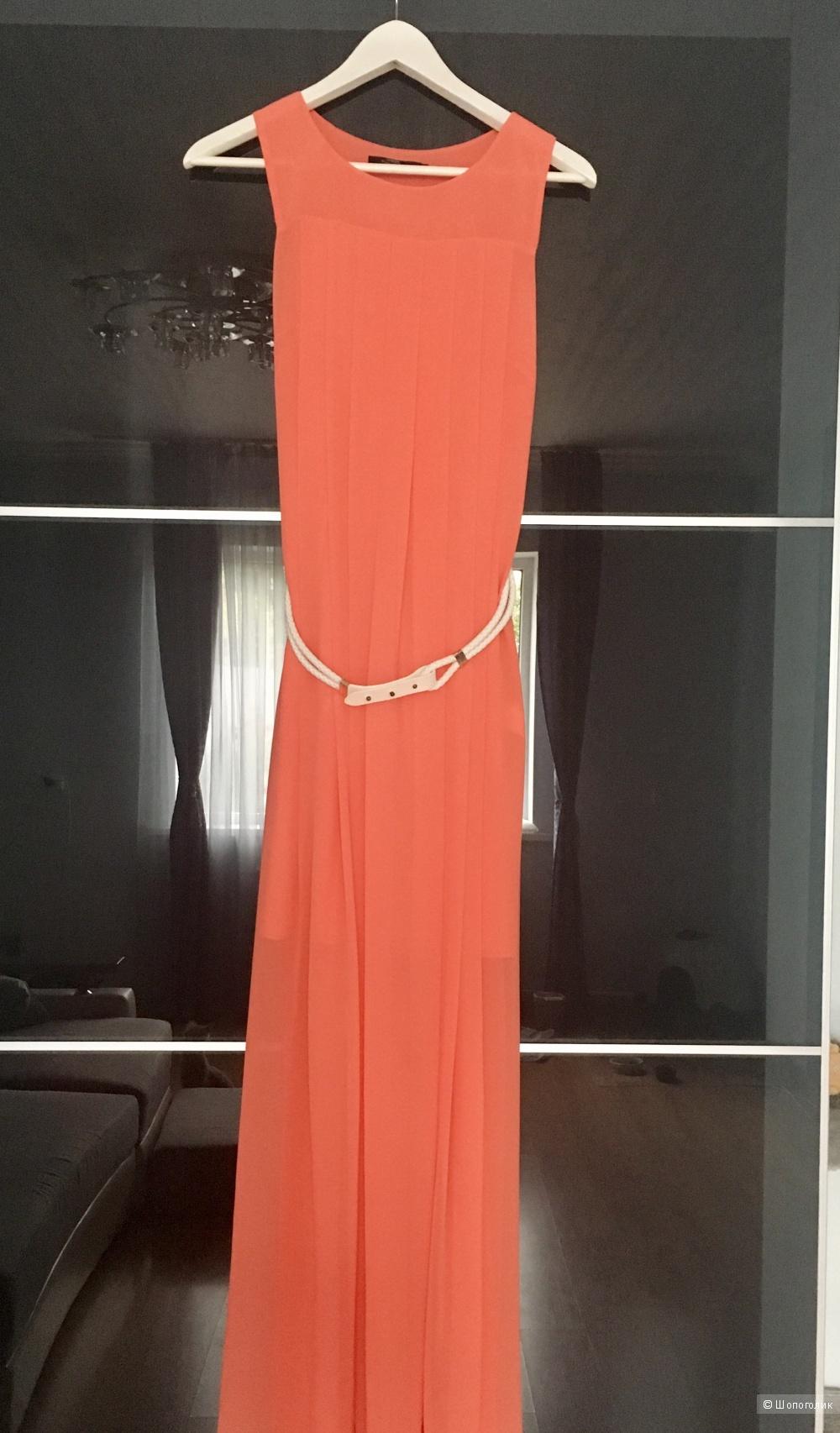 "Платье ""макси"" кораллового цвета O'Stin"