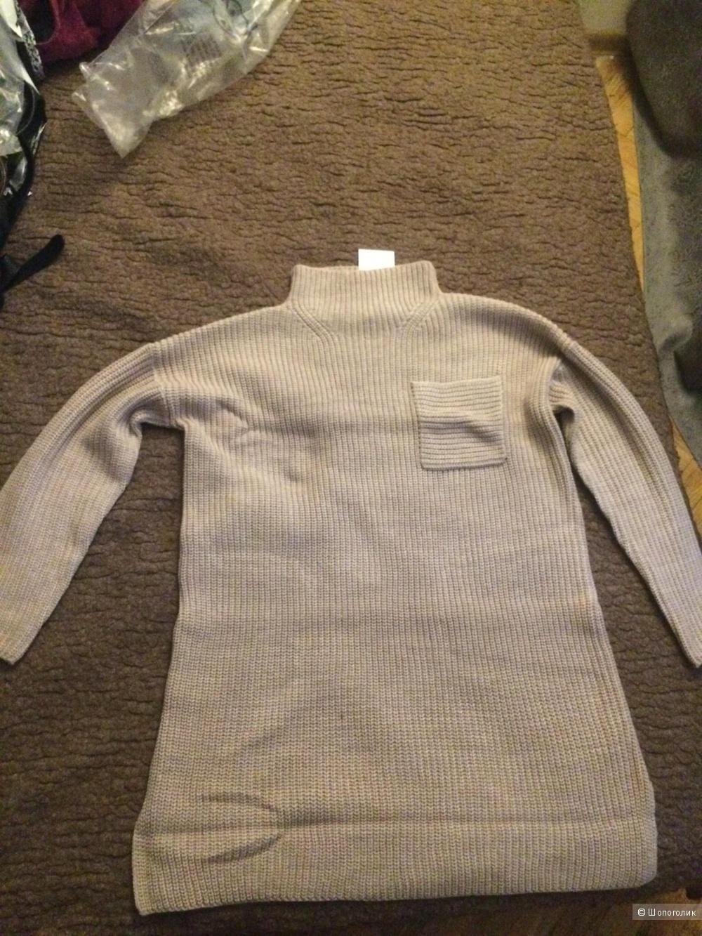 Платье свитер новое бежевое с Asos  размер s m в Москве