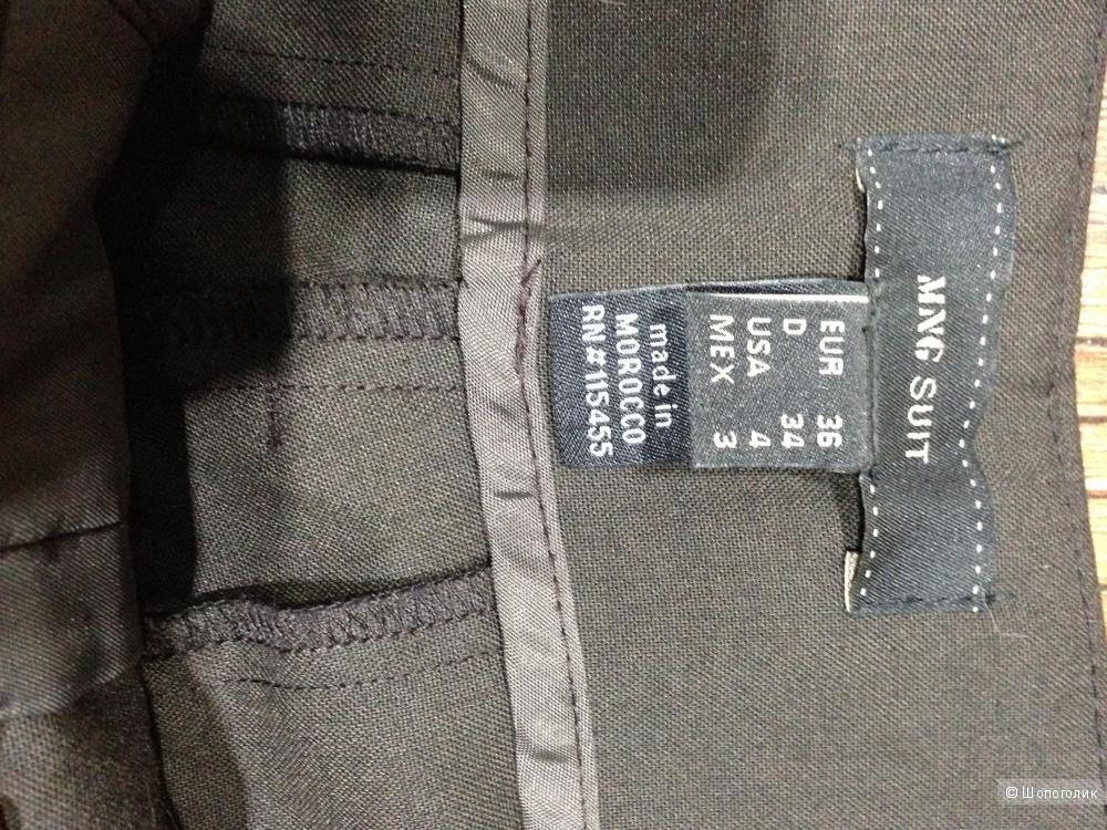 MANGO красивые широкие брюки р.44