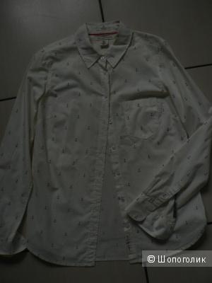 Рубашка белая H&M размер 42-44 б/у