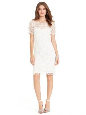 Ralph Lauren шикарное платье из вязаного кружева р. 44-46