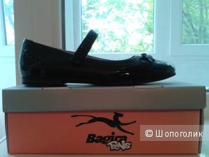 Кожаные туфли на девочку-подростка, р-р 38