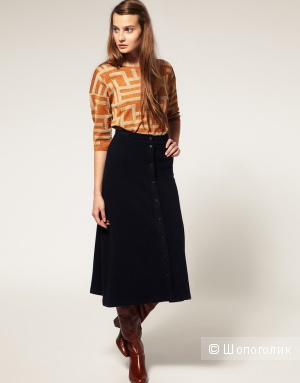 Женская юбка Asos Midi Skirt In Wool Jersey.