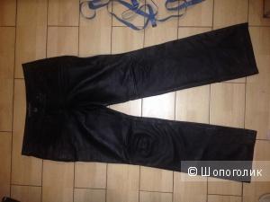 Кожаные брюки стрейч