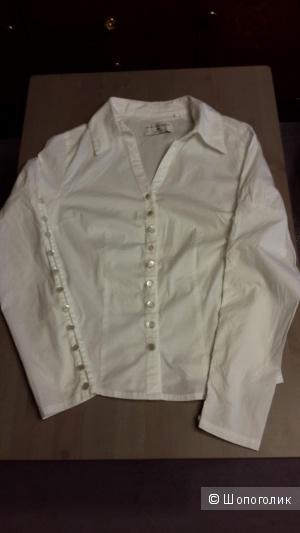 Блузка белая Rick Cardona размер 36 немецкий на наш 44 б/у