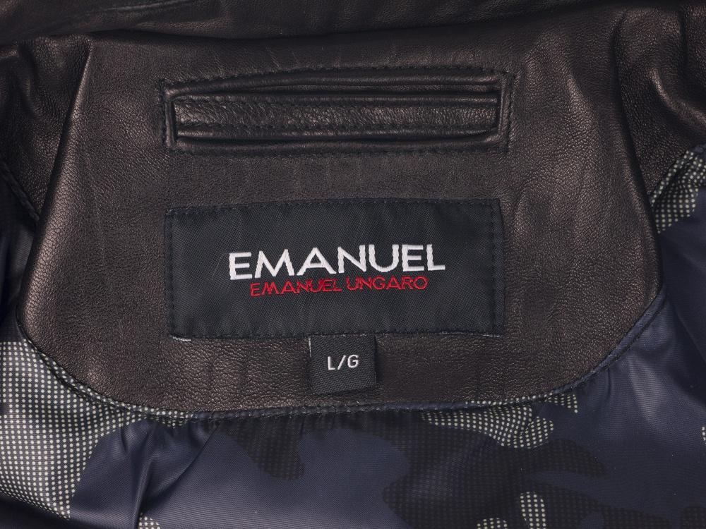 Новая мотокуртка из натуральной кожи Emanuel by Emanuel Ungaro (оригинал).