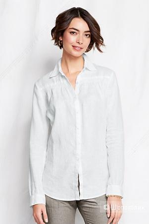 Новая льняная рубашка Landsend размер 8US на наш 48