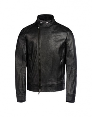 """Куртка кожаная мужская """"8"""", размер М, черная"""