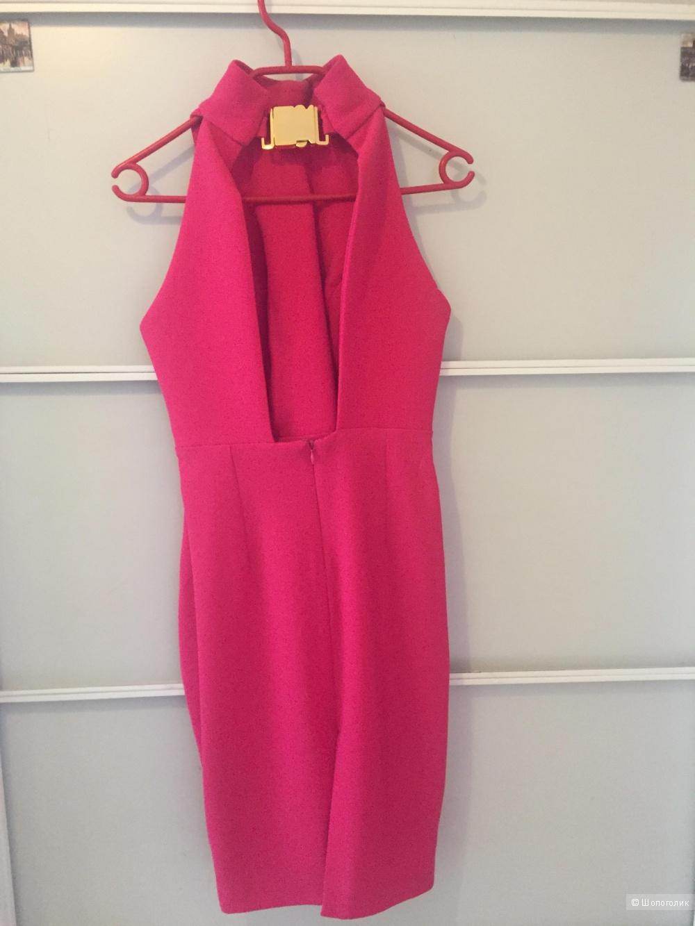 Платье Aqua Secil, розовое, размер 10, наш 44-46(М)