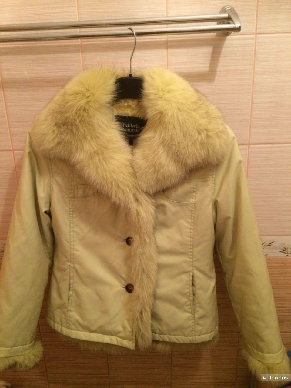 Куртка зимняя, на натуральном кролике