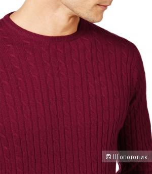 Новый мужской свитер Woolovers размер L (большой размер) шерсть/кашемир