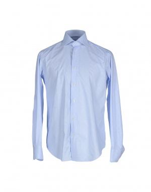 Мужская рубашка CALIBAN, 48 (Российский размер) дизайнер:IV (IT) Небесно-голубой. Большемерит.