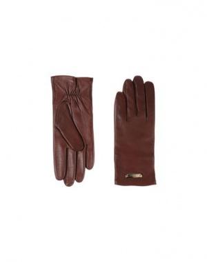 Кожаные перчатки BURBERRY LONDON, оригинал. Размер 18 (см) дизайнер:7 (inches) Какао
