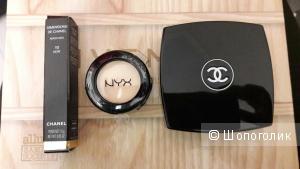Сет косметики Chanel: тушь и палетка, хайлайтер в подарок
