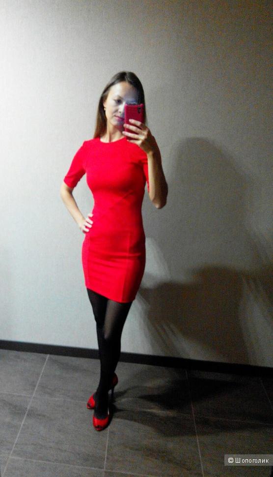 Красное облегающее платье ASOS НОВОЕ XS