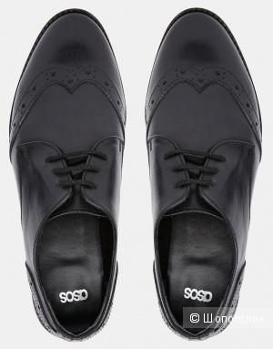 Новые кожаные броги ASOS размер UK 7 - евро 40 - по стельке 25,5 см