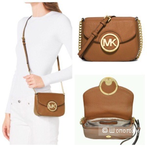 Маленькая сумочка Michael kors Fulton leather small crossbody