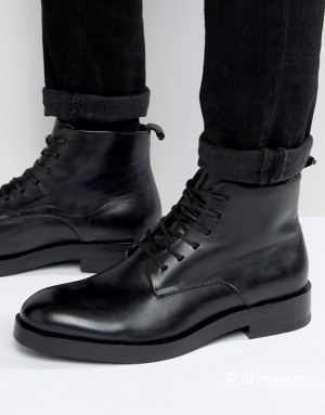 Calvin Klein мужские кожаные ботинки на шнуровке Read, uk8