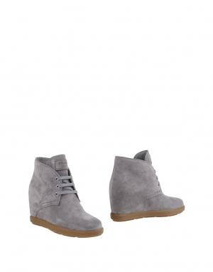 Полуботинки на шнурках PRADA MILANO, 37.5 (Европейский Размер) Серый