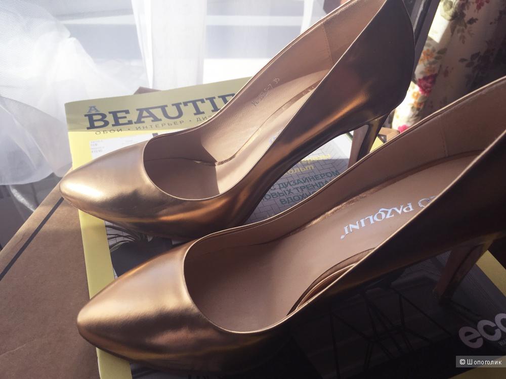 Золотые туфли Carlo Pazolini