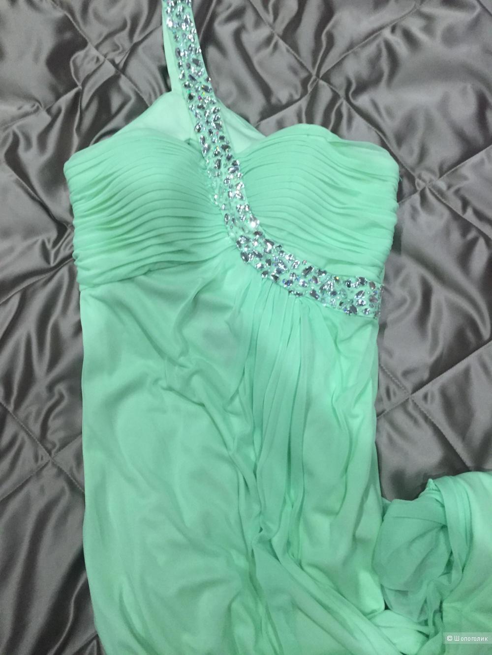 Нежно-бирюзовое платье Betsy Adam