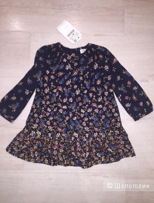 Новое платье zara на 86 см