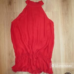 Красная блузка-туника