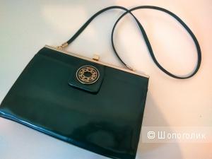 Изумрудная сумочка  Carlo Pazolini  нат.кожа