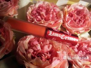 Жидкая матовая помада lime crime velvetines в оттенке suedeberry оригинал новая