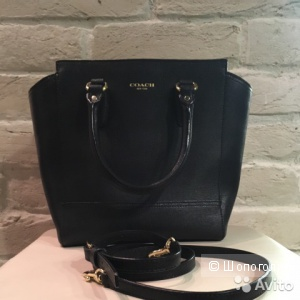 Coach черная маленькая сумка