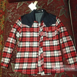 Рубашка в клетку, Китай, размер L
