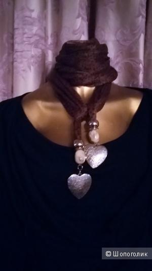 Красивый шарфик Италия и блузка Оджи хлопок. 48-52.