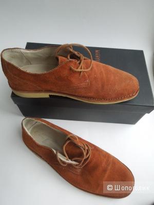 Ботинки мужские натуральная замша 41 размер 28 см.
