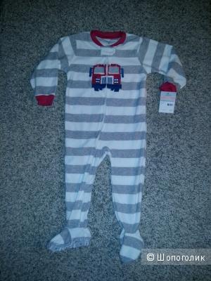 Флисовая пижама carter`s, размер 2 года