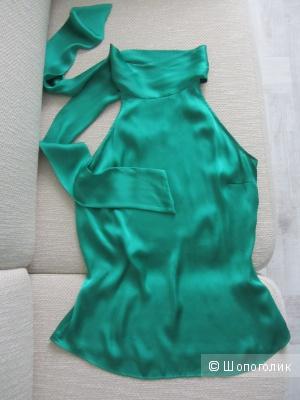 Топ Zara изумрудного цвета