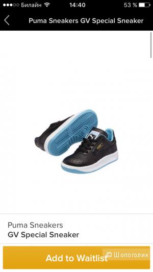 Суперские кроссовки Puma, детские, кожаные, на мальчика или девочку 1,5-2 года, 22 размер (6todller)