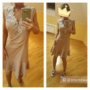 Платье новое цвет пудры  karen millen оригинал вечернее или коктейльное