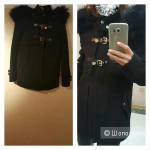 Zara новое шерстяное пальто из Марокко оригинал размер s