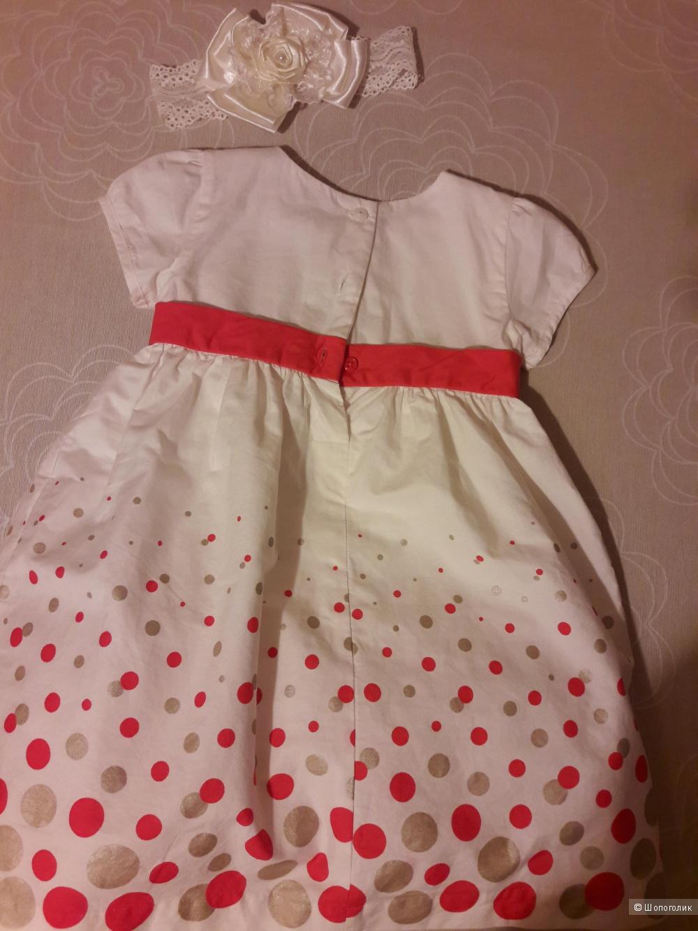 Нарядное платье для девочки Carters на 12-18 месяцев