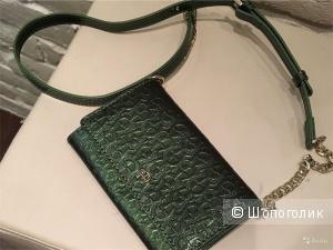 Aigner кошелек-сумка изумрудная