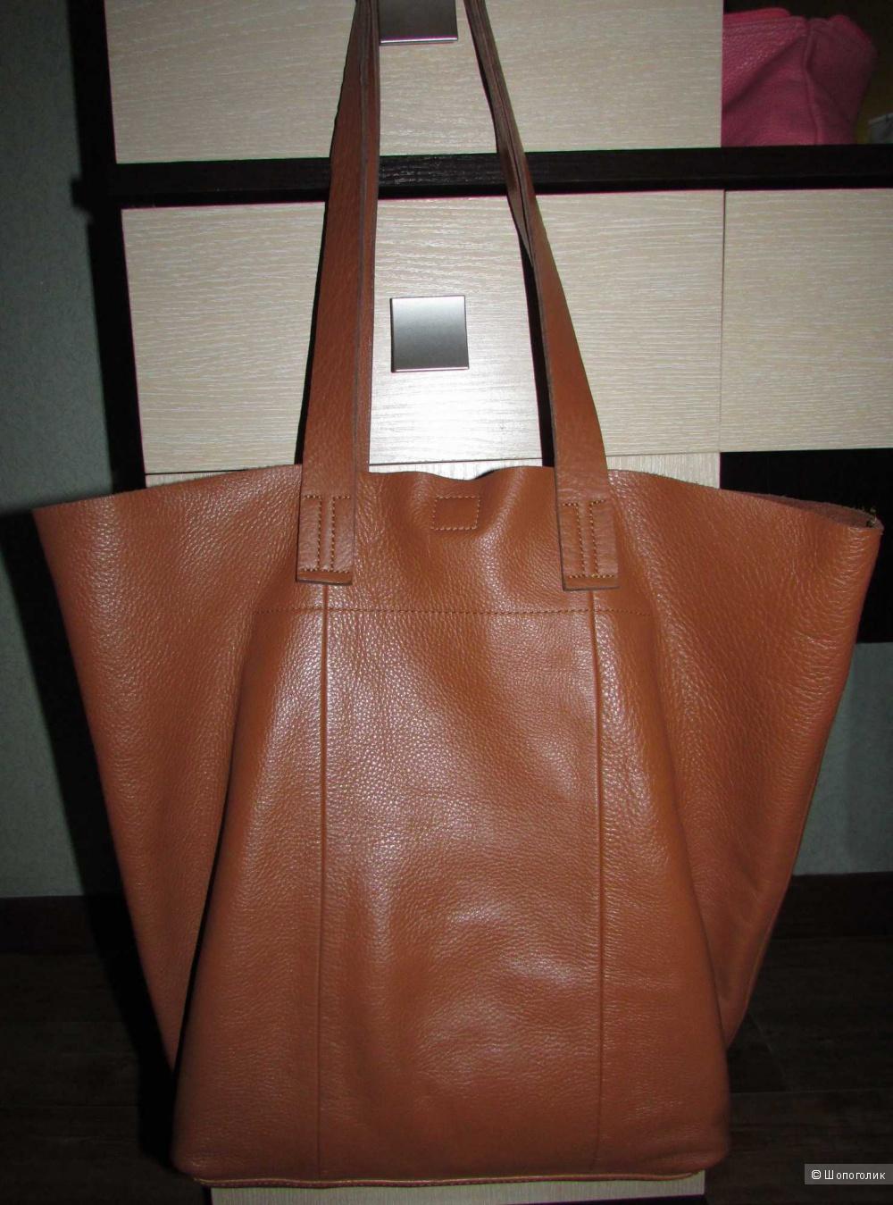 Кожаная сумка шопер Next