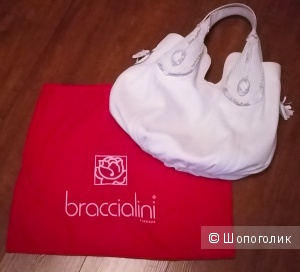 """Шикарная сумка """" Bracсialini"""" Италия. Оригинал. Натуральная кожа"""