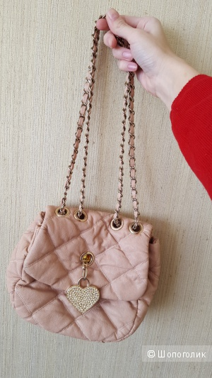 Небольшая, милая сумочка с G-market, как новая, кожзам, б/у 2 раза