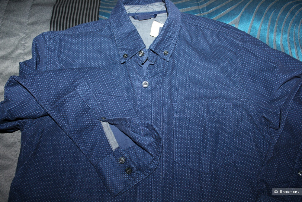 Вельветовая новая рубашка GAP детский размер XL
