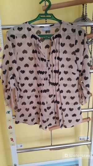 Блузка в сердечки Wallis 12 uk