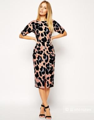 Платье с животным принтом ASOS (wiggle dress)