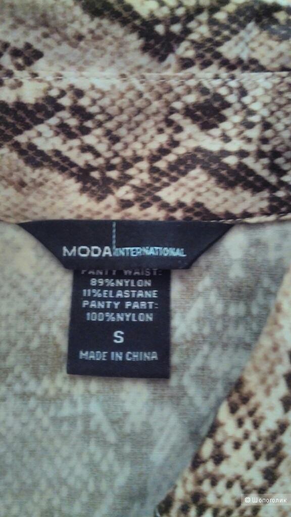 Рубашка-боди со змеиным принтом с VS ррS очень эффектная