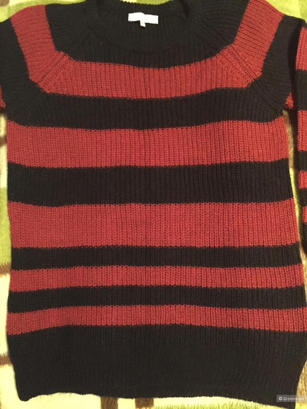 Новый IRO BLACK & RED STRIPED BARBARA SWEATER