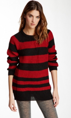 Новый IRO BLACK & RED STRIPED BARBARA SWEATER