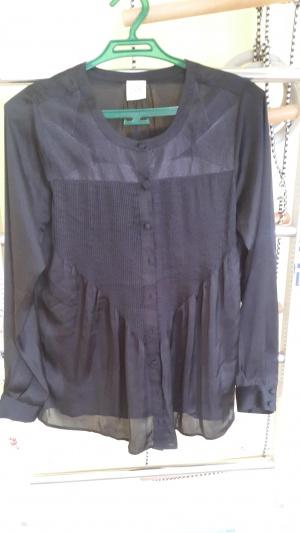 Блуза удлиненная черная, размер S, Sel by peppercorn Дания